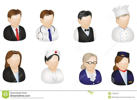 Sell Hack by European Profession Icons Stock Illustration Illustration