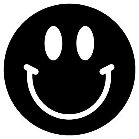 black and white smiley face best black and white smiley face 10725 clipartion com