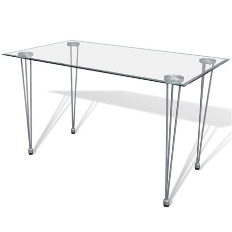 glass top table vidaxl co uk transparent glass top dining table