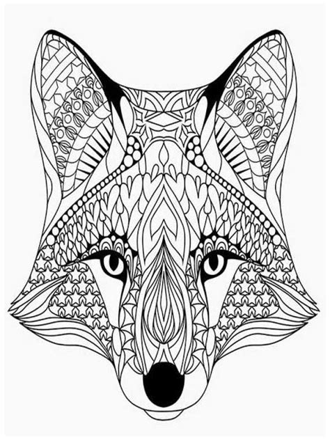 printable wolf coloring pages for adults coloring pages adults wolves head animals coloring pages