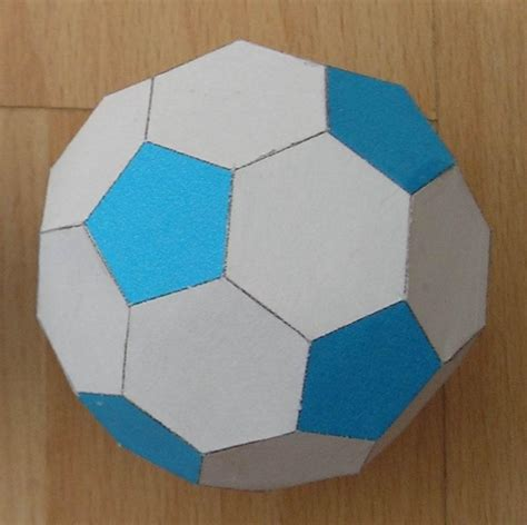 How To Make Paper Soccer - paper truncated icosahedron soccer or football