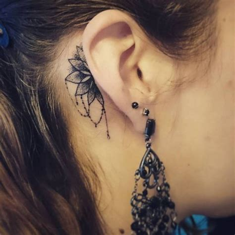 dot tattoo behind ear 40 intricate mandala tattoo designs mandala tattoo