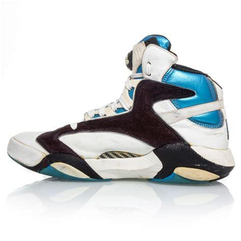 basketball pumps shoes reebok shaqnosis mens basketball shoes white