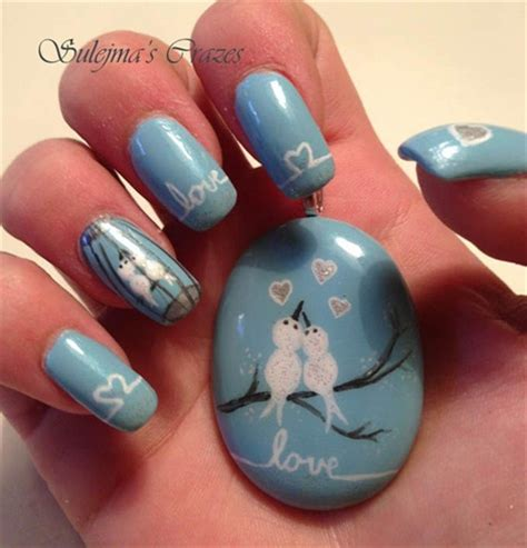 65 Most Stylish Light Blue Nail Art Designs Light Nail Design