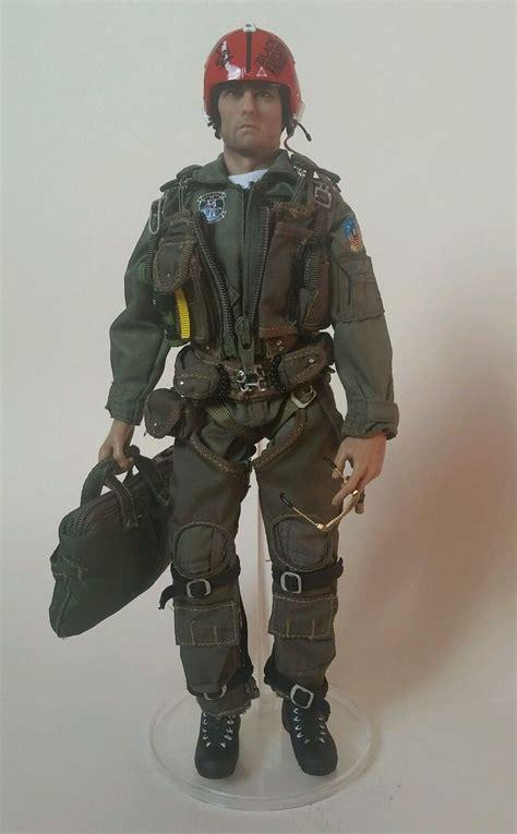 Figure Pilot tom cruise top gun maverick pilot figure custom made 1 6 scale by m r ebay 1 6