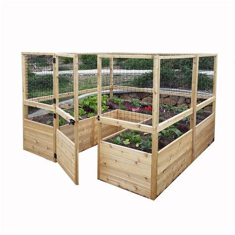 cedar raised garden bed kit outdoor living today 8 ft x 8 ft cedar raised garden bed