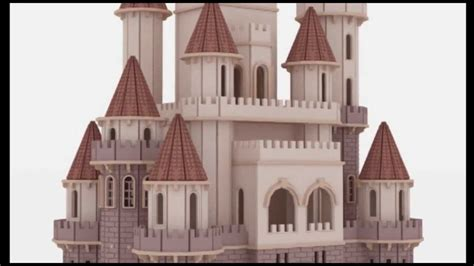 castle doll house fantasy castle doll house laser cutting plans cnc router scroll saw pattern youtube