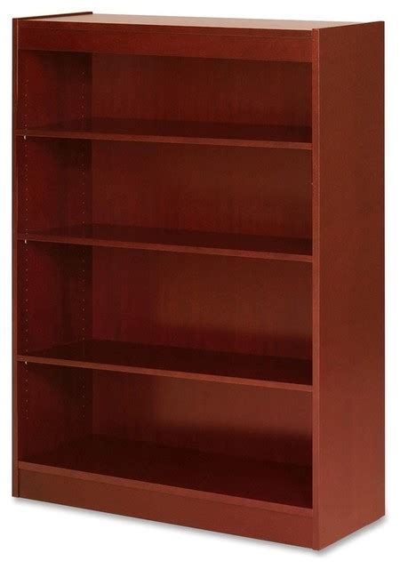 Bookcase Shelf Height by Lorell Four Shelf Panel Bookcase 36 Quot Width X 12 Quot Depth X