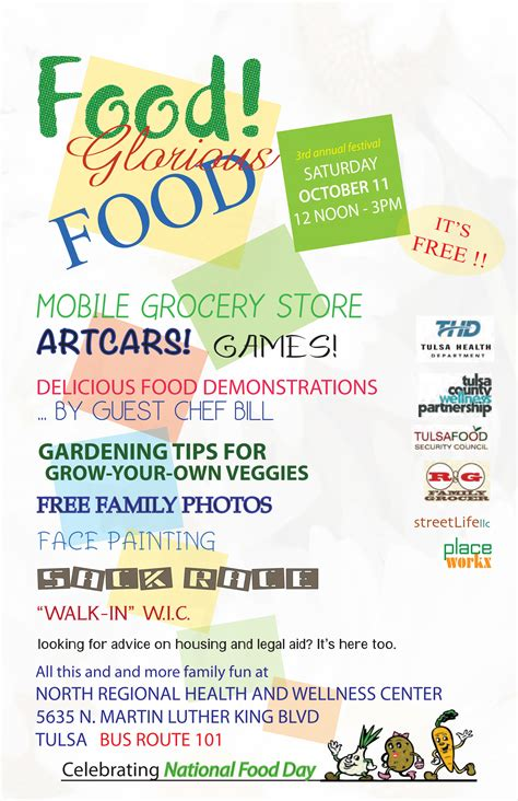 food glorious food day october 11th tulsa health department
