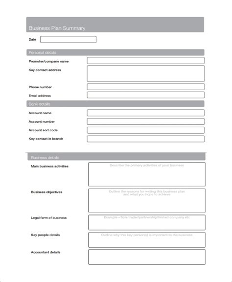 8 Service Business Plan Templates Sle Templates Business Service Template