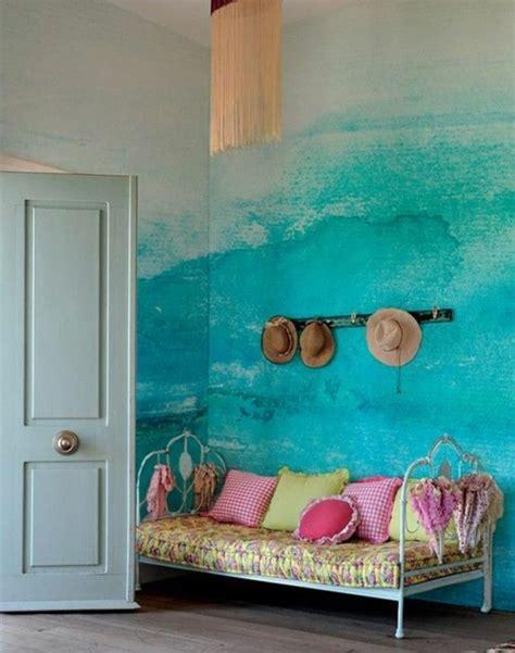 Wand Streichen Effekte by 45 Ideen F 252 R Farbige W 228 Nde Archzine Net
