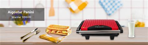 de aigostar warme 30hhh kontaktgrill panini maker sandwich maker elektrogrill 700