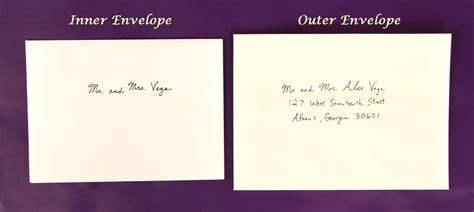addressing wedding invitations with one outer envelope how to address wedding invitations