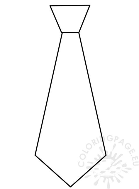 necktie template s day 2017 craft necktie pattern coloring page