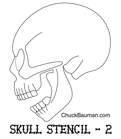 skull airbrushing stencil free by crb1177 on deviantart