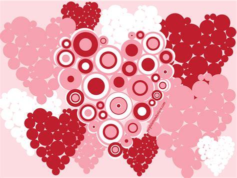 valentine wallpaper pinterest hearts valentines desktop wallpaper pink circles flat