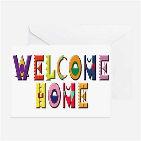 Welcome Home Card Template Welcome Home Greeting Cards Card Ideas Sayings Designs Templates