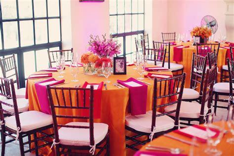 bright modern pink orange wedding part 2 every last detail