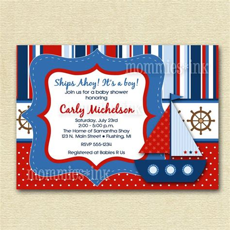 free nautical baby shower invitation templates 358 best marinera images on paper