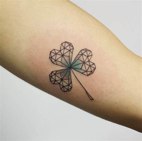 tattoo leaf geometric 35 artistic shamrock and four leaf clover tattoos