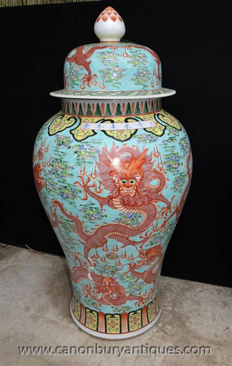 Ceramic Urns And Vases by Pair Big Ming Porcelain Urns Vases Lidded