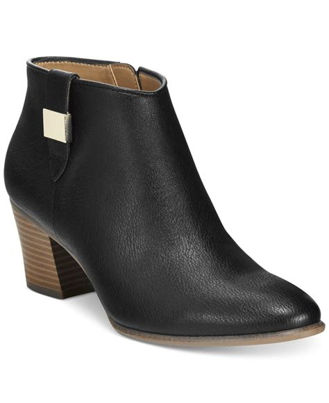 macys womans boots alfani s leoh ankle booties only at macy s in black