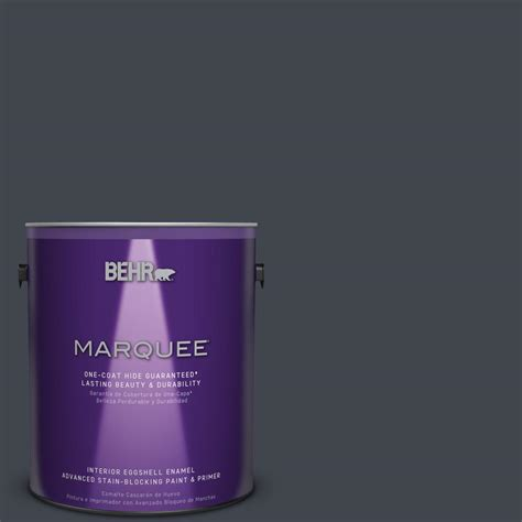 behr marquee 1 gal ppu25 23 winter way eggshell enamel interior paint 245301 the home depot