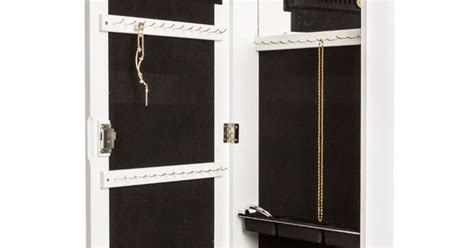 over the door jewelry armoire with lock amazon com jewelry armoire wall mount hanging over the