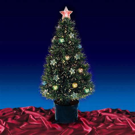 4ft 120cm beautiful black fibre festive 4ft 120cm green fibre optic lit tree