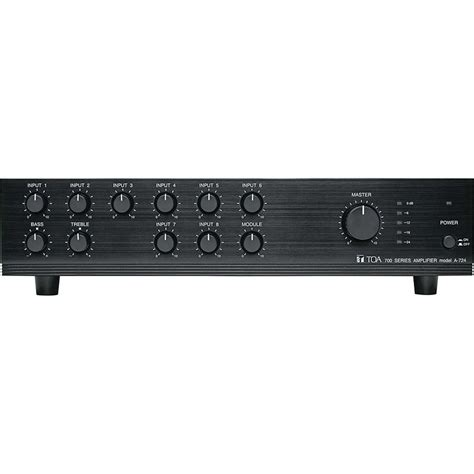 Mixer Audio Toa toa electronics a 724 9 channel 240 watt mixer lifier
