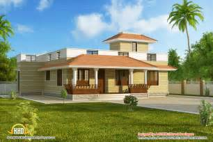 house models plans beautiful single story kerala model house 1395 sq ft