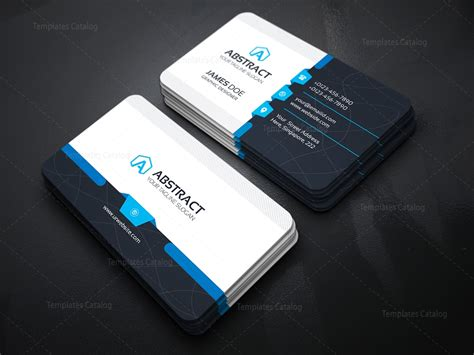 Corporate Business Card Template 000031 Template Catalog Tech Business Card Template