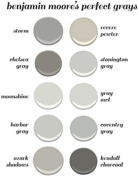 benjamin moor colors benjamin moore s perfect gray paint colors benjamin moore