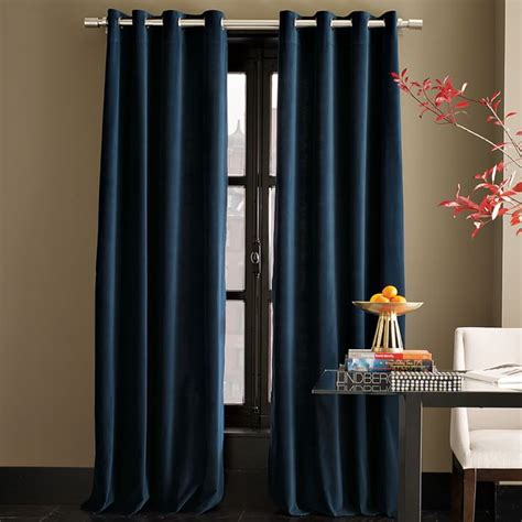 navy velvet drapes blue velvet curtain designs