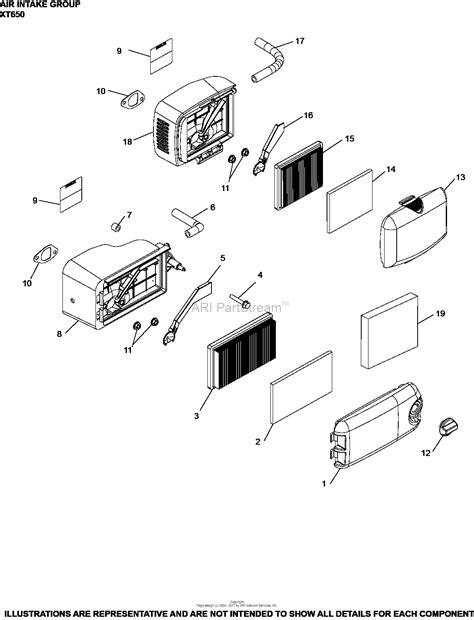 kohler xt  lawn boy   ft lbs gross torque parts diagram  air intake group