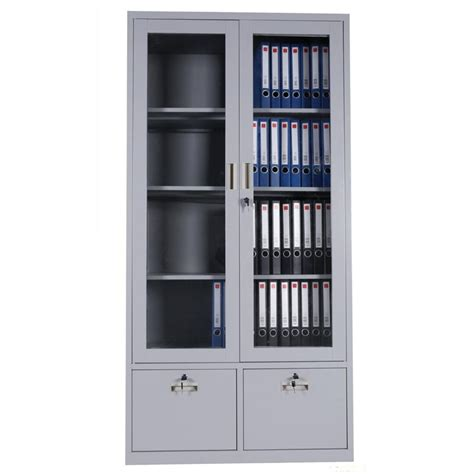 Lemari Filing Cabinet Plastik metal storage cabinet with glass doors imanisr