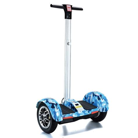Smart Balance Wheel Handle Bar Segway Mini 10 Inch a8 electric scooters smart hoverboard with handle bar blue