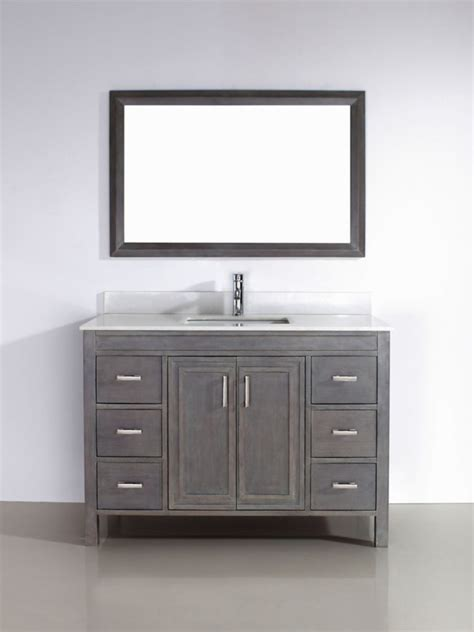 Home Depot Vanity Mirror by Bathe Corniche 48 Gray Vanity With Mirror And