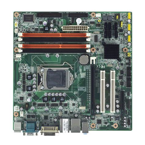 Vga Intel I3 aimb 580 intel 174 core i7 i5 i3 pentium 174 対応 vga dvi 4 デュアル lan microatx産業用マザーボード