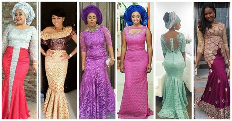 aso ebi lace styles colorful aso ebi in lace lookbook 4 amillionstyles com