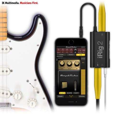 ik multimedia irig 2 guitar interface for ios android and mac