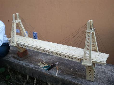 Popsicle Stick Suspension Bridge Popsicle Stick Suspension Bridge Www Imgkid Com The