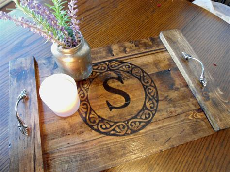 Decorative Trays For Coffee Table Coffee Table Tray Rustic Decorative Wooden By Buttercupcove