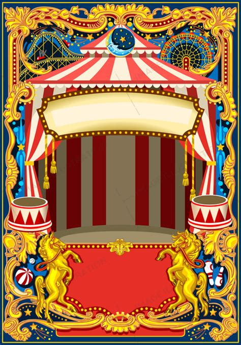 wordpress themes carnival circus poster vector frame image illustration