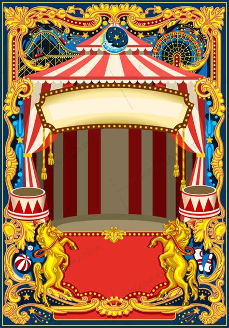 wordpress themes carnival circus poster vector frame image illustration