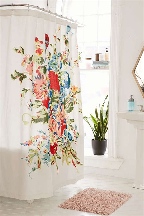 Decorative Shower Curtains Decorative Shower Curtains With Valance And Square Rug For Modern White Interior Design Ideas