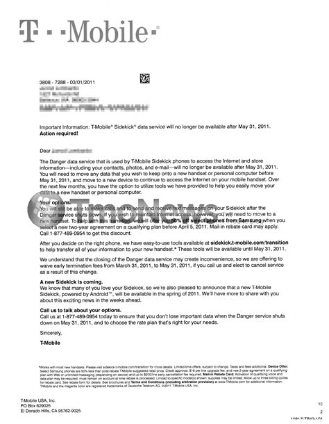 cancellation letter cable service t mobile sends letter regarding danger shutdown offers 50