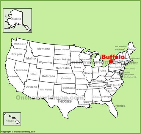 buffalo in usa map buffalo location on the u s map