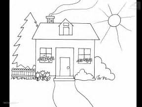 coloring pages of houses house coloring page