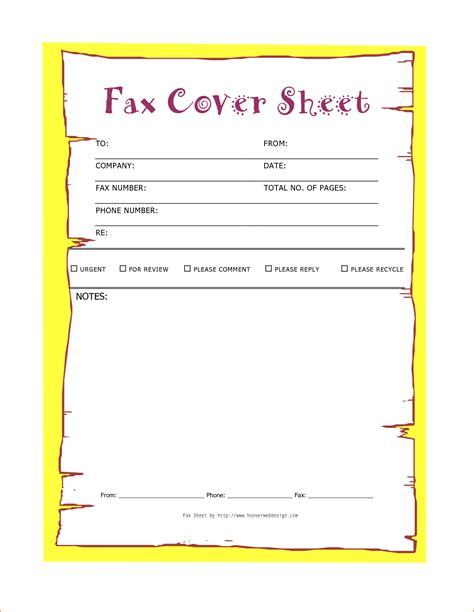 download modern fax cover sheet for free tidyform cute fax